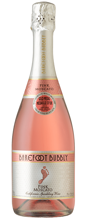 Barefoot wine Bubbly Pink Moscato